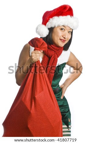 Santa's Elf Isolated on White