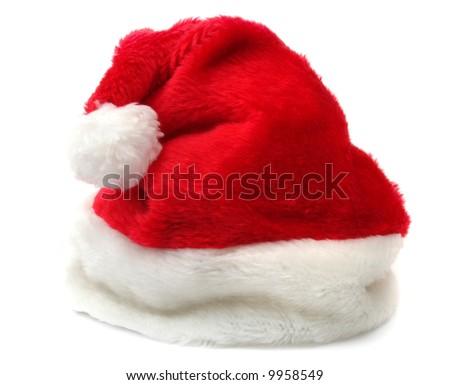 Santa's hat isolated on white background - stock photo