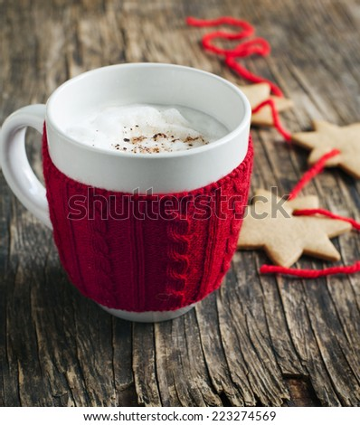 Santa's milk. - stock photo