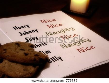 Santa's Naughty Or Nice List for Boys - stock photo
