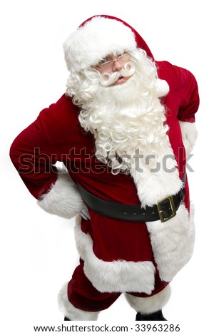 Santa's watching you! - stock photo