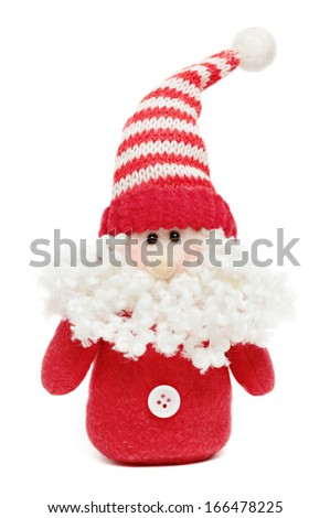 Santa toy isolated on a white background