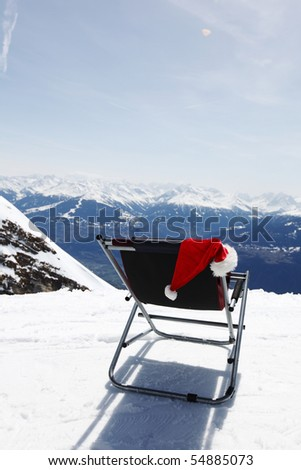 santa vacation - stock photo