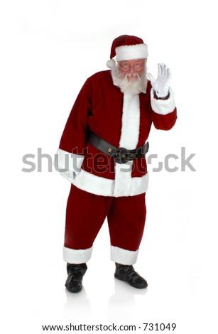 Santa Waves - stock photo