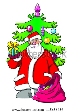 Drunk Santa Proposing Toast Glass Stock Illustration ...