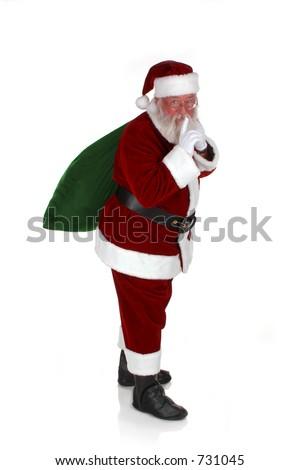 Santa With His Bag of Goodies - stock photo