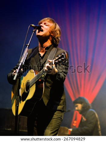 SANTANDER, SPAIN - JUL 22: Mando Diao (band), performs at Santander Amstel Music Festival on July 22, 2011 in Santander, Spain.