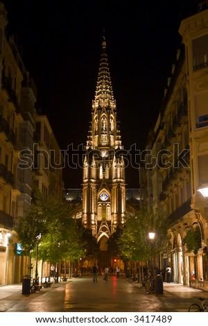Santequera Church in San Sebastian - stock photo