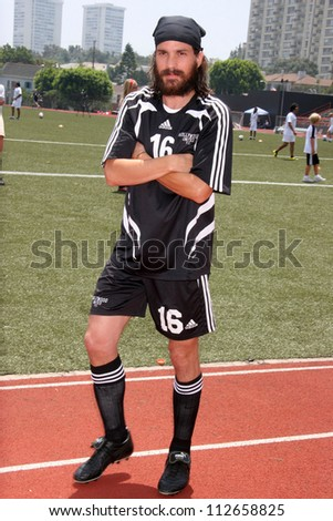 Santiago Cabrera at the Soccer for Survivors Celebrity Showcase Match. Beverly Hills High School, Beverly Hills, CA. 07-22-07 - stock photo