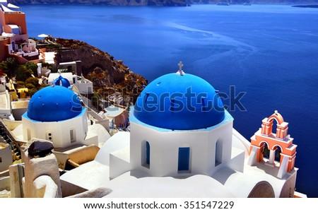 Santorini - stock photo