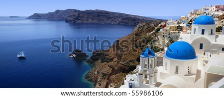 Santorini - stock photo