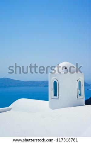 Santorini church (Firostefani) - stock photo