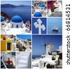 SANTORINI COLLAGE - stock photo