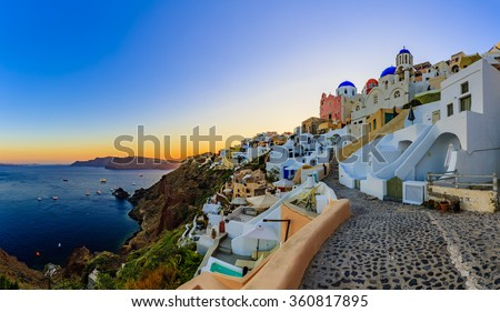 Santorini, Greece - Oia at sunset