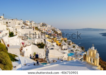 Santorini, Greek Islands - stock photo