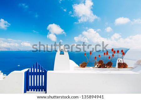 Santorini Island, Greece - stock photo