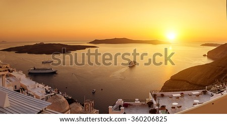 Santorini island,Greece  - stock photo