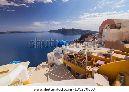 Santorini Island. Greece. Oia.  Summer.