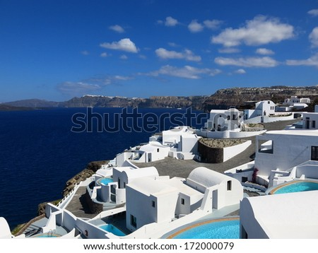 Santorini seascape view