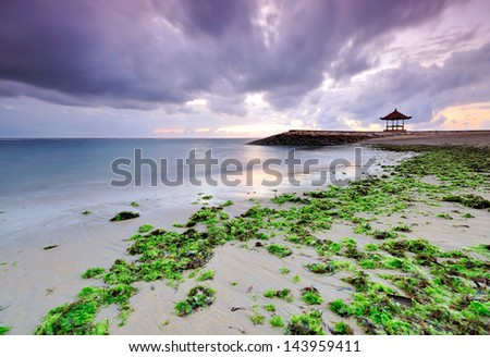 Sanur Beach Bali, Indoensia - stock photo