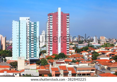 Sao Caetano du sol city landscape in Brazil - stock photo