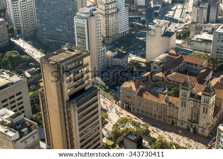 Sao Paulo, Brazil, May 23, 2011 View of the central region of Sao Paulo