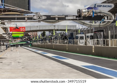 Sao Paulo, BRAZIL - November 30: During the final round of the FIA WEC on November 30, 2014 in Sao Paulo, BRAZIL.