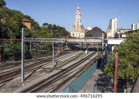 Sao Paulo, Brazil, October 08,2016: Luz train station, railway station built in the late nineteenth century, in Sao Paulo.