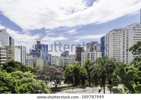 Sao Paulo city, Brazil - stock photo