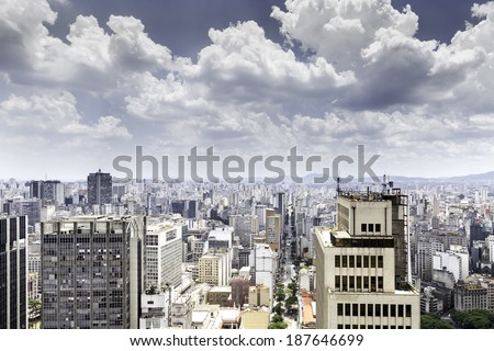 Sao Paulo city in Brazil, Latin America - stock photo