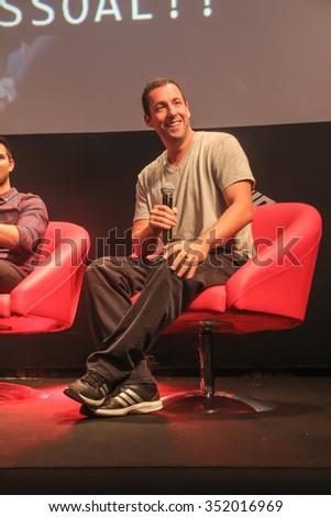 SAO PAULO, DECEMBER 6, BRAZIL, 2015: Actor Adam Sandler during Comic Con Experience 2015 at Sao Paulo Expo. - stock photo