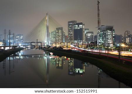 Sao Paulo Skyline - Brazil  - stock photo