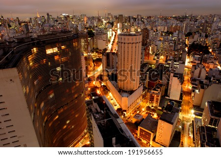 Sao Paulo skyline, Brazil, largest city in South America
