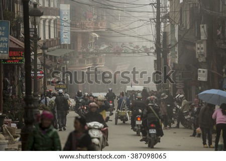 SAPA - VIETNAM, MARCH 4 : transportation of the people in Sapa, Vietnam. March 4, 2016