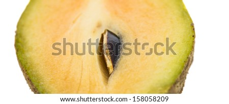 Sapodilla or chiku fruits over white background