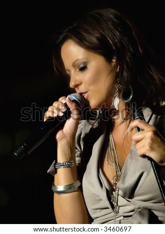 Sara Evans, Charlotte,  NC, Speed Street event, May 2007 - stock photo