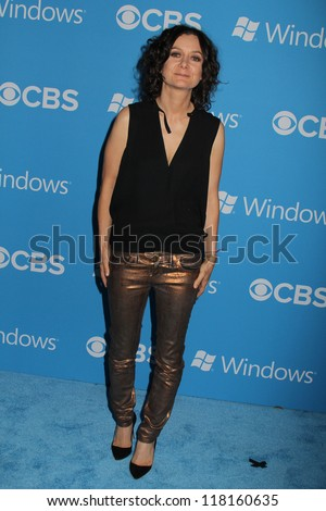 Sara Gilbert at the CBS 2012 Fall Premiere Party, Greystone Manor, West Hollywood, CA 09-18-12