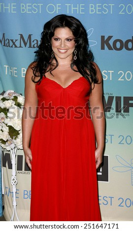 Sara Ramirez attends Women In Film Presents The 2007 Crystal and Lucy Awards held at the Beverly Hilton Hotel in Beverly Hills, California, California, on June 14, 2006.  - stock photo