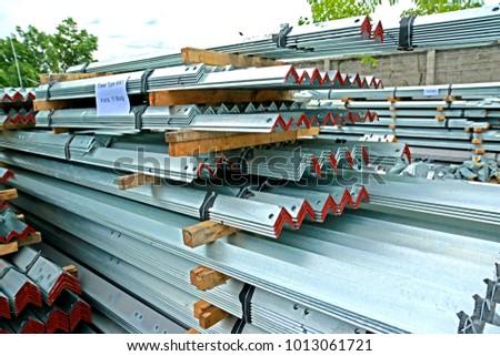 SARABURI-THAILAND-MAY 26 : Hot-dip galvanized steel member for steel tower