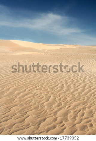 Sarah Desert with great light and Texture to powder soft Sand - stock photo
