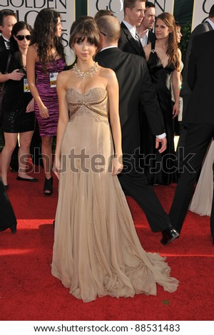 Sarah Hyland at the 68th Annual Golden Globe Awards at the Beverly Hilton Hotel. January 16, 2011  Beverly Hills, CA Picture: Paul Smith / Featureflash - stock photo
