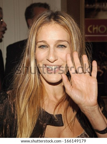 Sarah Jessica Parker at A CHORUS LINE Revival Opening Night on Broadway, Gilt at the Palace Hotel, New York, NY, October 05, 2006