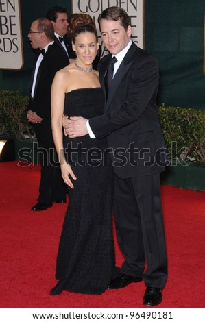 SARAH JESSICA PARKER & MATTHEW BRODERICK at the 63rd Annual Golden Globe Awards at the Beverly Hilton Hotel. January 16, 2006  Beverly Hills, CA  2006 Paul Smith / Featureflash