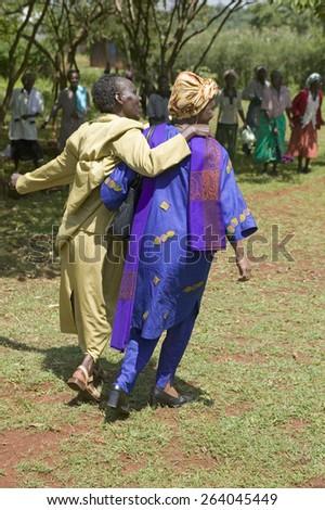 "Sarah Kilemi, wife of Parliament member Kilemi Mwiria, speaks to ""Women without Husbands"", Kenya - stock photo"