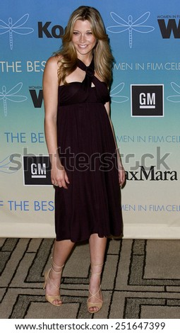 Sarah Roemer attends Women In Film Presents The 2007 Crystal and Lucy Awards held at the Beverly Hilton Hotel in Beverly Hills, California, California, on June 14, 2006. - stock photo