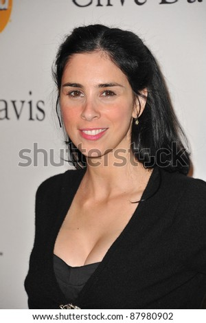 Sarah Silverman at the 2011 Clive Davis pre-Grammy party at the Beverly Hilton Hotel. February 12, 2011  Beverly Hills, CA Picture: Paul Smith / Featureflash