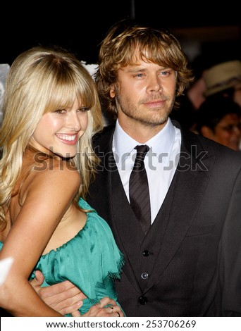 """Sarah Wright and Eric Christian Olsen at the Los Angeles Premiere of """"The Thing"""" held at the Universal Studios in Westwood, California, United States on October 10, 2011.  - stock photo"""