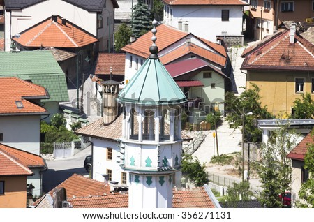 Sarajevo - capital city of Bosnia and Herzegovina - stock photo