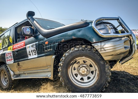 SARATA MONTEORU, BUZAU, ROMANIA - SEPTEMBER 15, 2016: Competitor in GTC TROPHY 2016 â?? The longest day! The 5th Stage of Romanian Off-Road Championship