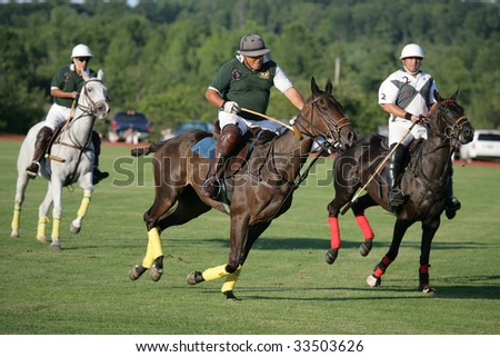 SARATOGA SPRINGS - JULY 10: Omar Sosa in action during the opening match of the season at Saratoga Polo Club July 10, 2009 in Saratoga Springs, NY.